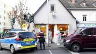 Tatort: der überfallene Kiosk in Wiesbaden