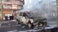 Brennende Autos in Frankfurt