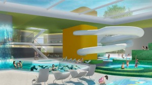Schwimmen unterm Cabrio-Dach