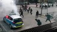 Angriff auf das Erste Polizeirevier Frankfurt
