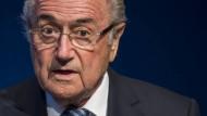 """""""Die Herren Sarkozy und Wulff haben versucht, ihre Wahlmänner zu beeinflussen"""": Joseph Blatter"""