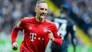 Der Matchwinner von Frankfurt: Franck Ribery trifft doppelt.