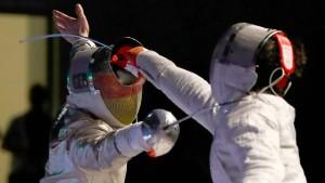 Athleten im Gefecht
