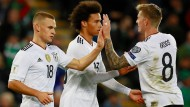 Ziel erreicht: Kimmich, Sané und Kroos können endgültig für die WM in Russland planen.