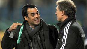 Es fehlt nicht viel: Dutt und U-21-Nationaltrainer Rainer Adrion