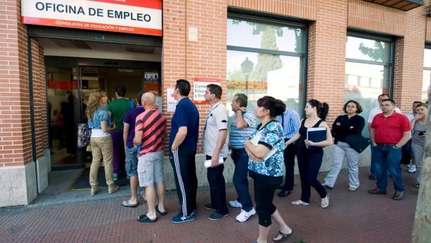Spanien ist stark von hoher Arbeitslosigkeit betroffen
