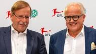 DFB-Präsident Fritz Keller und DFB-Vizepräsident Rainer Koch (links)