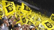 BVB-Fans werden große Fahnen verboten