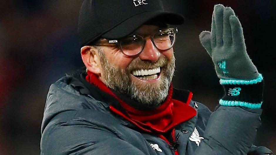 Trotz der Kälte in Liverpool hatte Jürgen Klopp seinen Spaß.