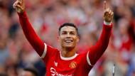 Ronaldo lässt sich in Old Trafford feiern