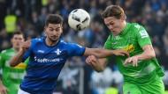 Trägt bald rot: Darmstadts Stürmer Antonio Colak (l.) wechselt nach Ingolstadt.