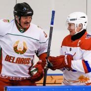 Begeisterte Eishockeyspieler: Aleksandr Lukaschenka (links) und Wladimir Putin, hier im Februar in Sotschi