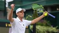 Der Überraschungsgast im Viertelfinale von Wimbledon: Sam Querrey hat Djokovic geschlagen