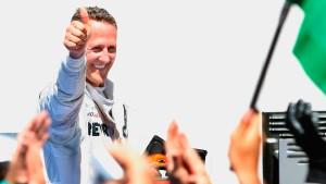 Schumacher saust ins Glück