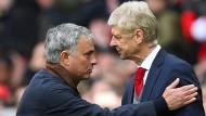 Ziemlich beste Freunde? José Mourinho (links) und Arsene Wenger.
