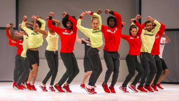 So sehen die deutschen Sportler bei Olympia aus