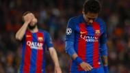 Tränen in Barcelona nach dem Begräbnis