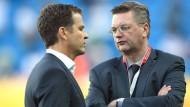 Wer behält welche Macht? DFB-Präsident Grindel (rechts) und Teammanager Bierhoff.