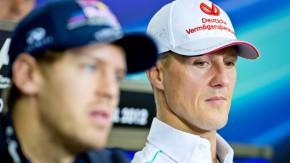 Der eine will den Titel gewinnen, der andere noch ein letztes Rennen genießen: Vettel und Schumacher