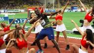 Paraderolle: Bolt braucht keine Cheerleader für eine gute Show, er macht sie selbst.