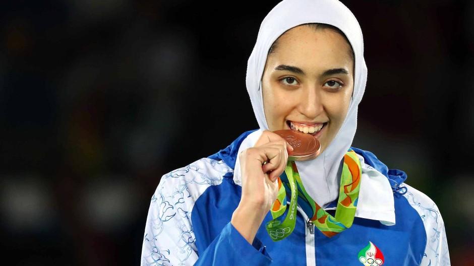 2016 für Iran erfolgreich: Kimia Alisadeh bei den Olympischen Spielen in Rio de Janeiro