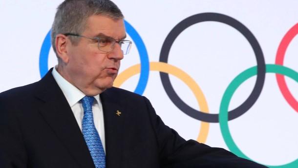 Der IOC-Präsident gibt ein erschütterndes Bild ab