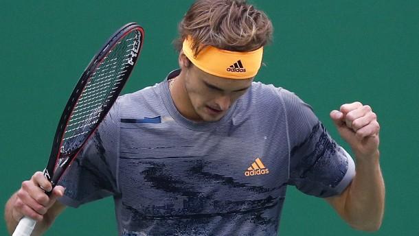 Zverev im Viertelfinale gegen Federer