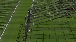 Stadion wird zum Feldlazarett