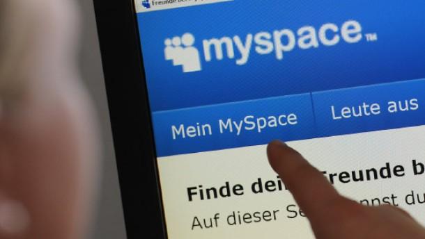 Das halbierte Netzwerk: Die Internetseite von MySpace