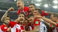 Jubeltraube: Kroatien gewinnt gegen Nigeria