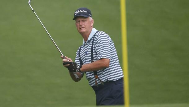 Golfer im Spätherbst