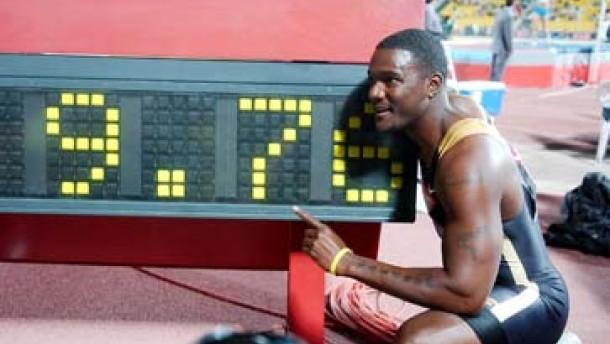 100 Meter in 9,76: Gatlin läuft Weltrekord