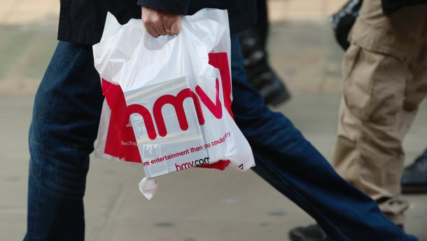 Musikkette HMV ist zahlungsunfähig