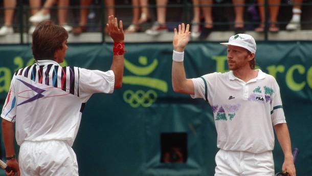 Becker und Stich wollen Doppel-Gold nachfeiern