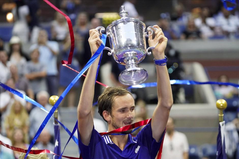 Der Sieger: Daniil Medwedew gewinnt die US Open.