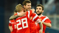 Getestet oder nicht? Aus dem Kader der russischen Fußballnationalelf mussten 14 Spieler der Rusada keine Probe abgeben.