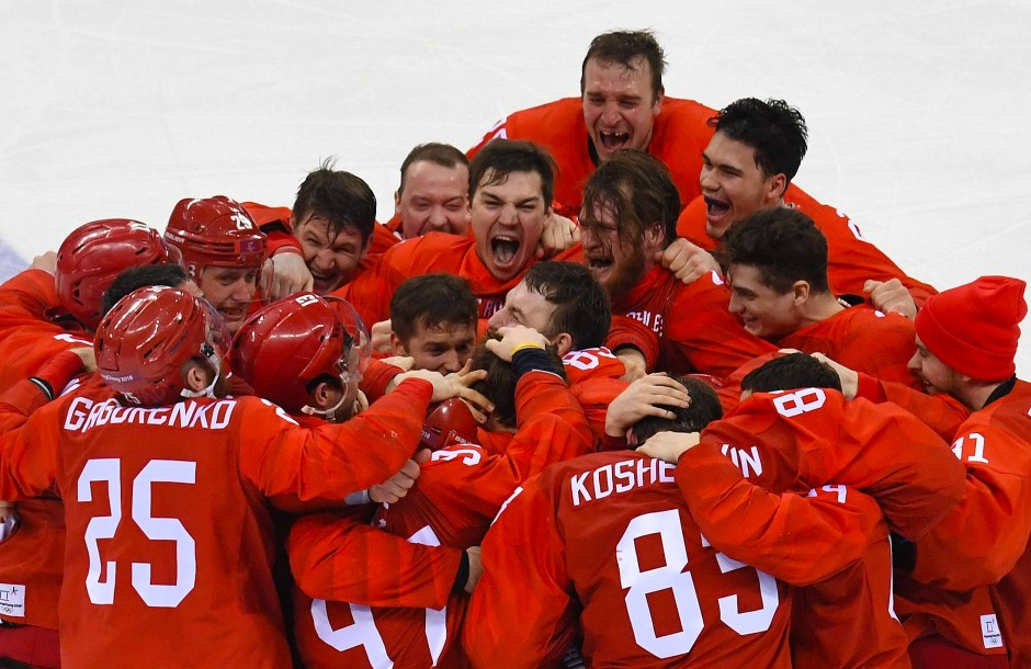 Am Ende jubelten die Spieler aus Russland über den Olympiasieg.