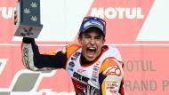 Jubel in Japan: Marc Marquez feiert seinen WM-Titel