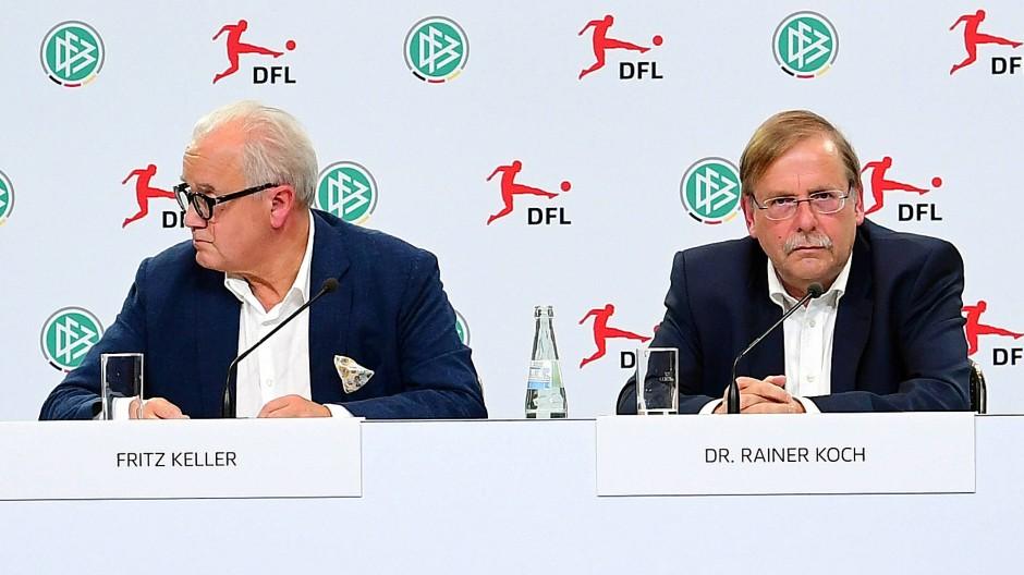 Zwei Antipoden im DFB-Machtkampf: Fritz Keller (l.) und Rainer Koch