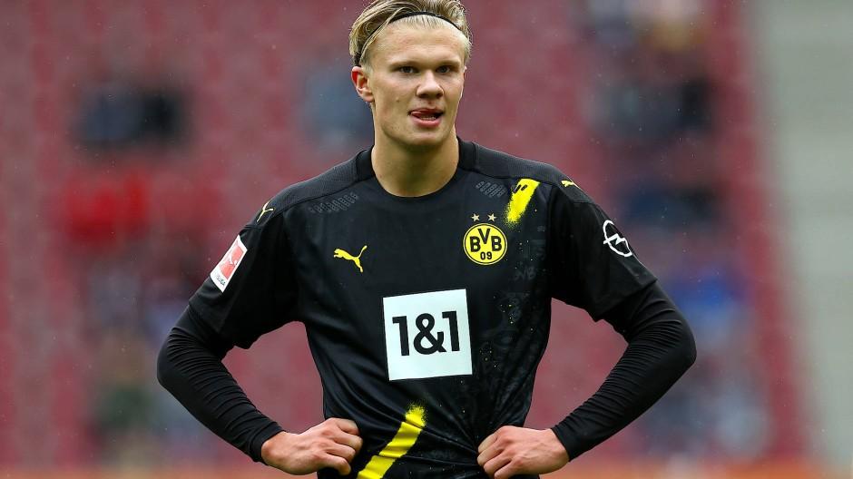 Dortmund-Stürmer Erling Haaland konnte seine Klasse diesmal nicht ausspielen.