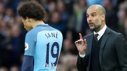 Guardiola setzt Sané unter Druck