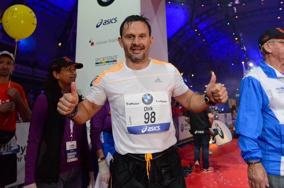 Marathonläufer Schuster: Hier beim Frankfurt Marathon 2014