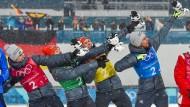 Grüße an Usain Bolt: Die deutschen Kombinierer.