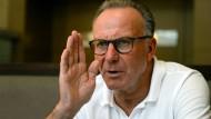 Sehr zufrieden mit dem neuen TV-Vertrag: Bayern Münchens Vorstandschef Karl-Heinz Rummenigge.