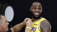 Strahlemann im neuen Dress: LeBron James