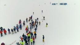 Marathon in der Antarktis bei extremen Temperaturen