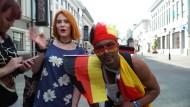 Deutsche Fans in Kasan optimistisch