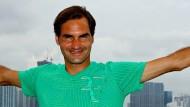 """""""Ich mache jetzt erst einmal eine Pause"""": Roger Federer in Miami."""