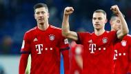 Die Bayern um Lewandowski (links) und Kimmich zeigen Stärke.