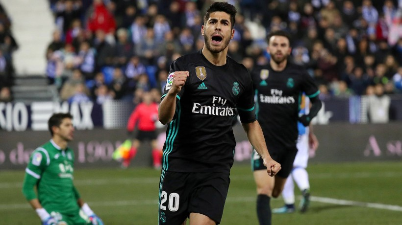 Marco Asensio bejubelt seinen Treffer in der 89. Minute.
